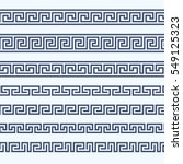 greek pattern border   grecian... | Shutterstock .eps vector #549125323