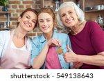 happy family of three... | Shutterstock . vector #549138643
