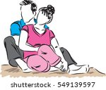 couple man and woman together... | Shutterstock .eps vector #549139597