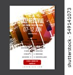 music poster template. vector... | Shutterstock .eps vector #549141073