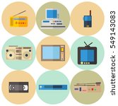 flat icons set of retro... | Shutterstock .eps vector #549143083