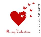 valentine's day greeting card.... | Shutterstock .eps vector #549148627