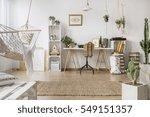 multifunctional loft apartment... | Shutterstock . vector #549151357