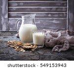 non dairy vegan oat milk.... | Shutterstock . vector #549153943