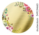 Pastel  Watercolor Floral Roun...