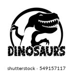 dinosaurs sign. | Shutterstock .eps vector #549157117
