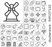 set of universal icons.... | Shutterstock .eps vector #549157123