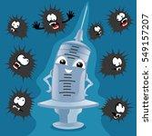 blue syringe. | Shutterstock .eps vector #549157207