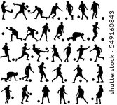 silhouettes of soccer players... | Shutterstock .eps vector #549160843