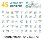 vector graphic set. silhouette  ... | Shutterstock .eps vector #549168373