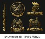 set golden chicken illustration ...   Shutterstock .eps vector #549170827