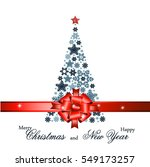 christmas tree from beautiful... | Shutterstock . vector #549173257