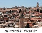 view overlooking jerusalem city. | Shutterstock . vector #54918349
