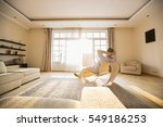 rear view of man relaxing on... | Shutterstock . vector #549186253