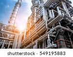 close up industrial view at oil ... | Shutterstock . vector #549195883