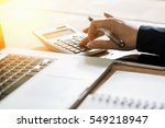 the calculators  business... | Shutterstock . vector #549218947