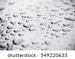water drops on black car roof... | Shutterstock . vector #549220633