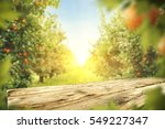 wooden table place of free... | Shutterstock . vector #549227347