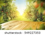 wooden table place of free... | Shutterstock . vector #549227353
