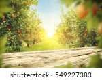 wooden table place of free... | Shutterstock . vector #549227383
