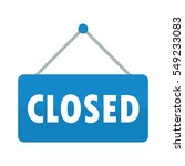 closed sign vector | Shutterstock .eps vector #549233083