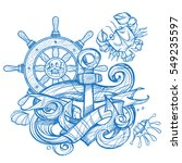 the ship's anchor  steering... | Shutterstock .eps vector #549235597