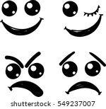 cute smiles icons for emoticons ... | Shutterstock .eps vector #549237007