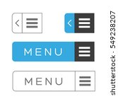 menu item ux vector