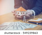 model house with your deposit... | Shutterstock . vector #549239863