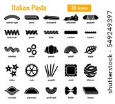 italian pasta  shapes and names ... | Shutterstock .eps vector #549249397
