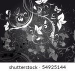abstract floral background...