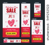 valentine's day sale banners... | Shutterstock .eps vector #549252523