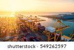 container ship in export and... | Shutterstock . vector #549262597