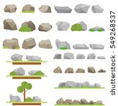 stones  set stones  mountains ... | Shutterstock .eps vector #549268537