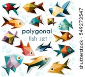 Bright Polygonal Fish Set ...