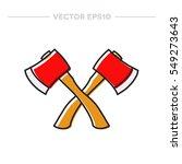 doodle icon. axe. vector... | Shutterstock .eps vector #549273643