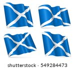 set of vector 3d flags of... | Shutterstock .eps vector #549284473