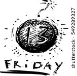 friday the 13th icon | Shutterstock . vector #549289327