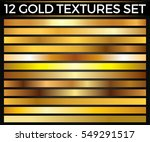 vector set of gold gradients ... | Shutterstock .eps vector #549291517