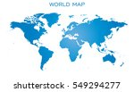 blank blue world map isolated... | Shutterstock .eps vector #549294277