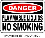 danger sign flammable liquids... | Shutterstock .eps vector #549295537
