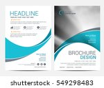 brochure template flyer... | Shutterstock .eps vector #549298483