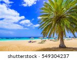 Beach In Tenerife  Canary...