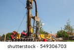 workers on drilling rig. oil... | Shutterstock . vector #549306703