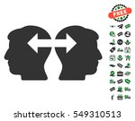heads exchange arrows icon with ... | Shutterstock .eps vector #549310513
