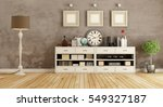 retro room with white sideboard ...   Shutterstock . vector #549327187