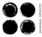 hand painted ink blobs set.... | Shutterstock .eps vector #549331723