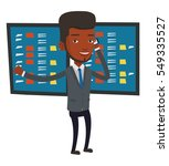 an excited businessman talking... | Shutterstock .eps vector #549335527