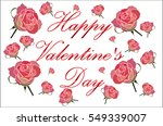 happy valentine's day card with ... | Shutterstock .eps vector #549339007