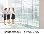 full length of businesswomen... | Shutterstock . vector #549339727